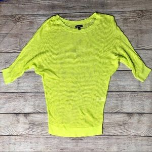 Express Dolman Sleeve Neon Lime Green / Yellow top